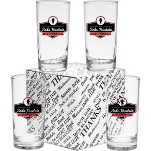 Thank You Deluxe Beverage Glasses (Set of 4)